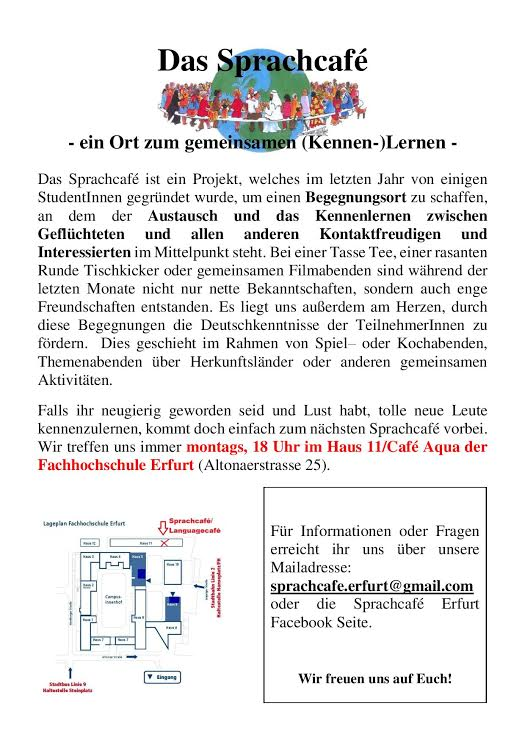 flyer sprachcafé