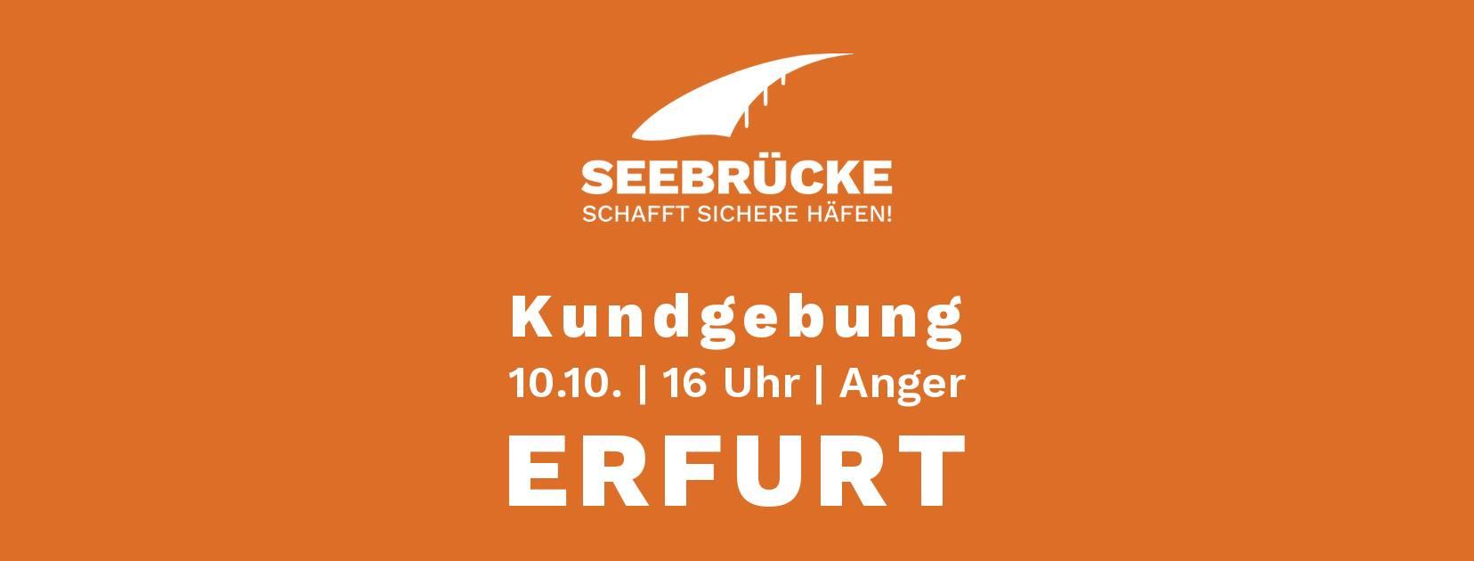 Banner Seebrücke-Demo